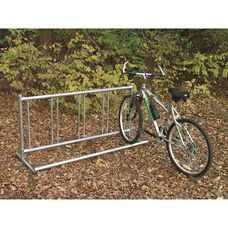 Theft Deterring Surface Mounted Galvanized Steel Single Entry Bike Rack - 24
