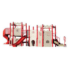 Galvanized Steel Tube Constructed Castle Play Center with Thermoplastic Coated Punch Steel Decks - 276