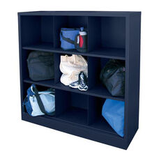 46'' W x 18'' D x 52'' H Cubby Storage Organizer with Nine Sections - Navy Blue