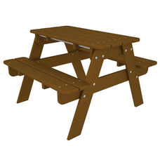 POLYWOOD® Kids Collection Picnic Table - Teak