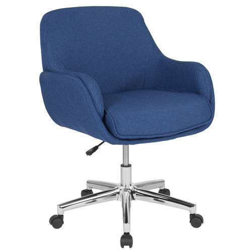 Our Rochelle Home and Office Upholstered Mid-Back Chair in Blue Fabric is on sale now.