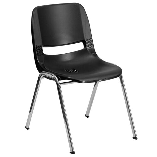 Our HERCULES Series 440 lb. Capacity Ergonomic Shell Stack Chair with 14