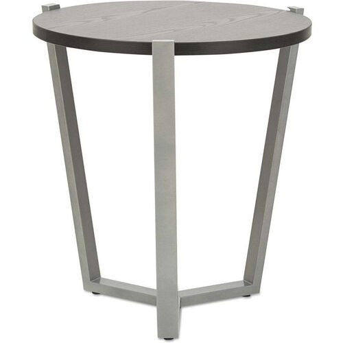 Our Alera® Round Occasional Corner Table with Silver Metal Frame and Laminate Top - 21.25