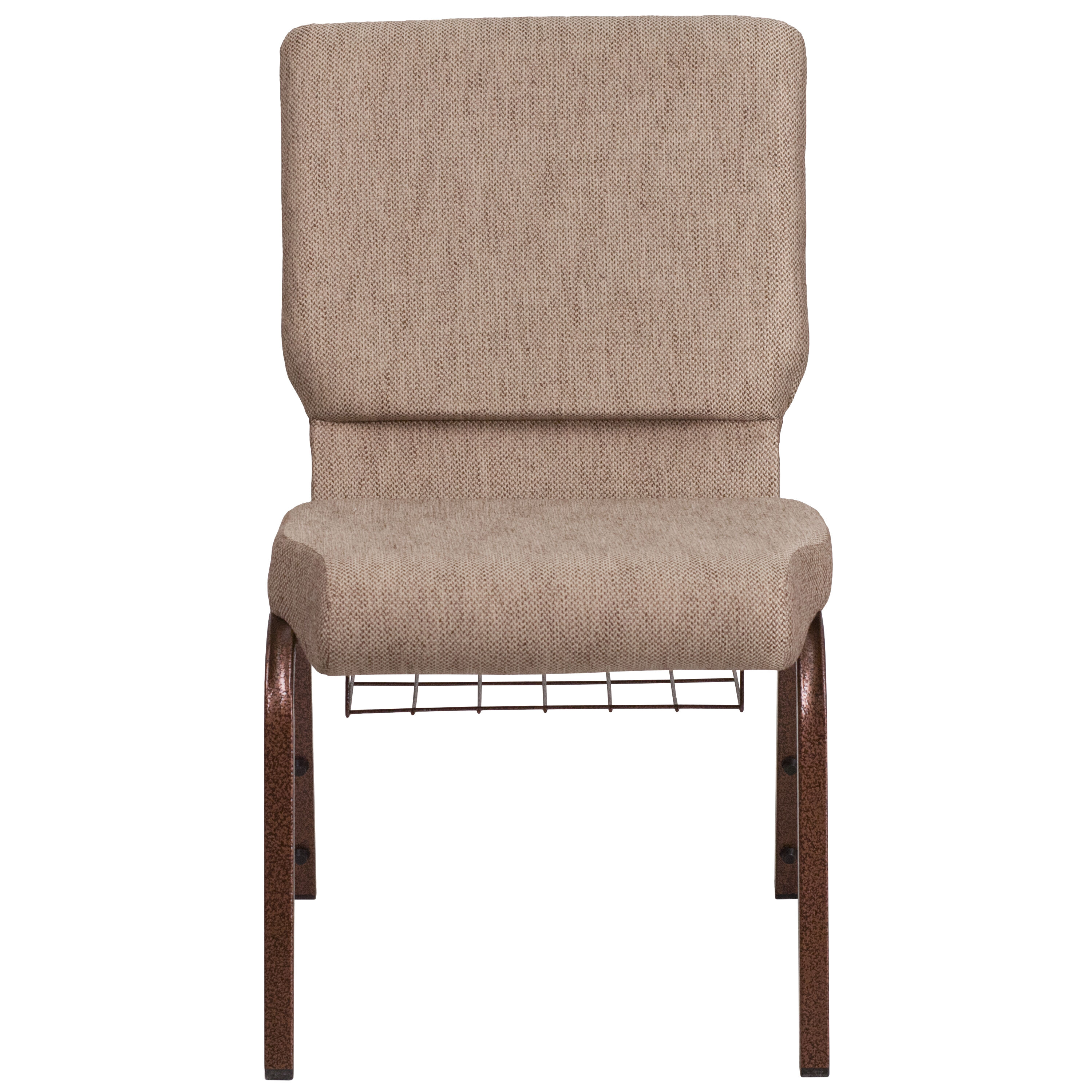 Gentil Beige Fabric Church Chair FD CH02185 CV BGE1 BAS GG | ChurchChairs4Less.com