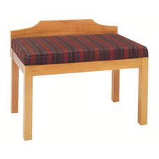 2449 Bench w/ Upholstered Seat & Wood Wall Protector - Grade 1