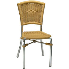 Honey Rattan Armless Rattan Patio Chair - Honey Rattan