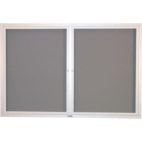 Contemporary Bulletin Board Hinged 2 Door Cabinet - 36