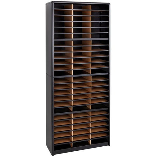 Value Sorter® Seventy-Two Compartment Literature Sorter and Organizer - Black