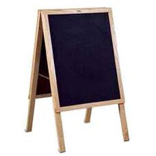 Oak Frame Blank Chalkboard Menu Board
