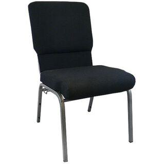 Advantage Black Church Chairs 18.5 in. Wide