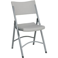 Work Smart PC-03 Blow-Molded Resin Folding Chair - Set of 4
