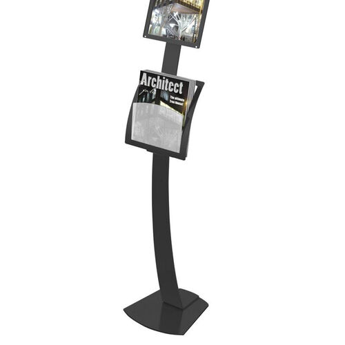 Our Contemporary Sign Stand Add-On Pocket Magazine Holder - Black is on sale now.