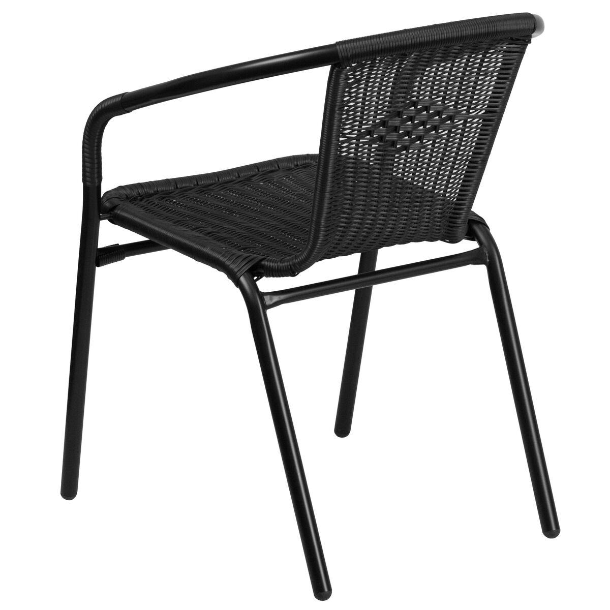black rattan stack chair tlh 037 bk gg. Black Bedroom Furniture Sets. Home Design Ideas
