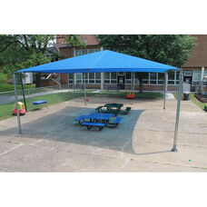 Stand-Alone Shade Structure with Lock Stitched High Density Polyethylene Canopy and Galvanized Steel Legs - 144