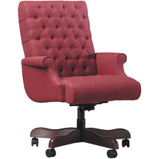 Quick Ship Scoop Management Swivel Chair with Fully Upholstered Arms