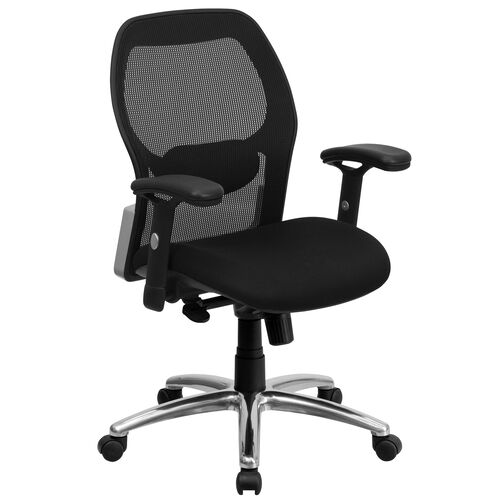 Our Mid-Back Black Super Mesh Executive Swivel Office Chair with Knee Tilt Control and Adjustable Lumbar & Arms is on sale now.