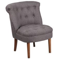 HERCULES Kenley Series Gray Fabric Tufted Chair