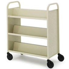 Voyager Book Truck with Double Sided Slanted Shelves - 36