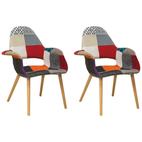 Our Morza Chair with Wood Legs and Patchwork Seat - Set of 2 is on sale now.