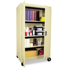 Alera® Mobile Storage Cabinet - w/Adjustable Shelves 36w x 24d x 66h - Putty