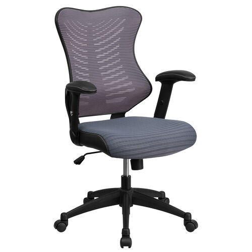 Our High Back Designer Gray Mesh Executive Swivel Ergonomic Office Chair with Adjustable Arms is on sale now.