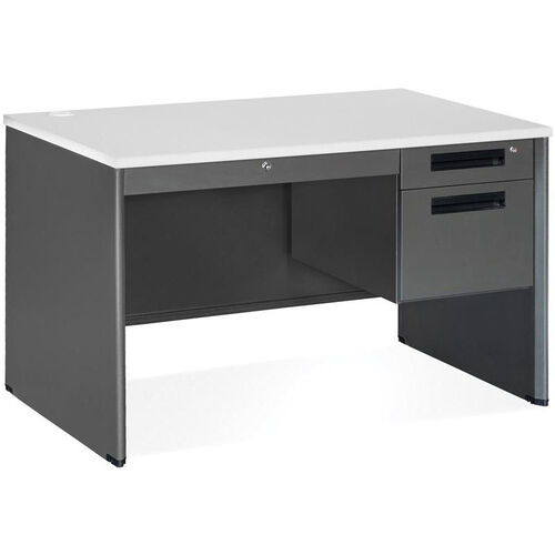 Our Executive Single Pedestal Panel End Desk with Center Drawer 29.50