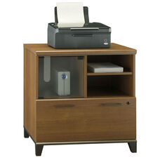 Achieve Lateral File/Printer Stand with Adjustable Shelf in Warm Oak Finish