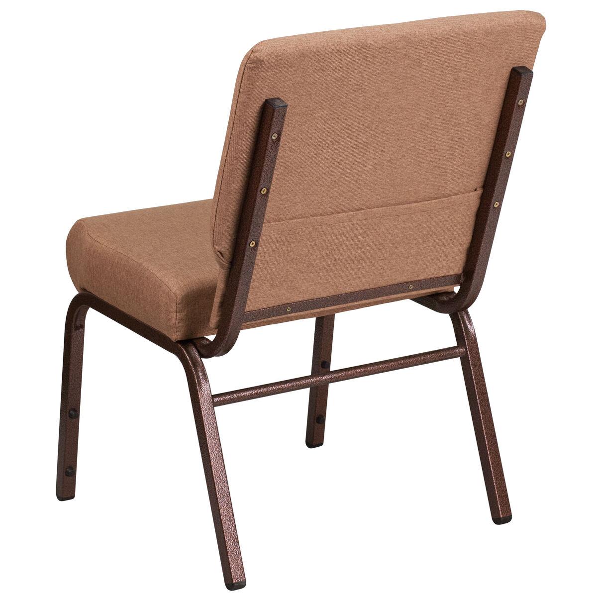 Hercules Series 21 W Stacking Church Chair In Caramel