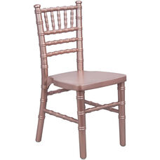 Advantage Kids Rose Gold Wood Chiavari Chair
