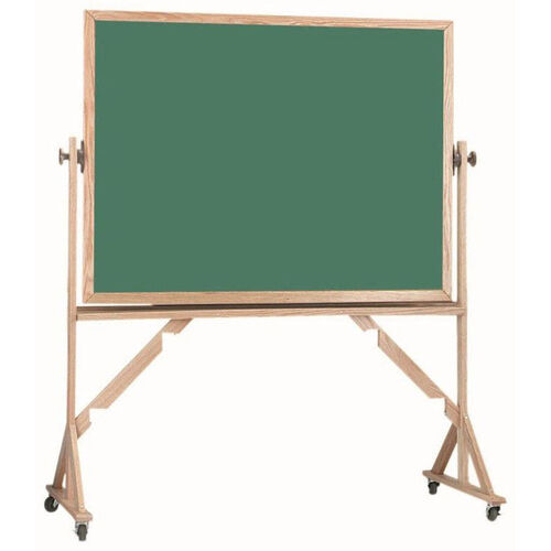 Our Reversible Free Standing Green Chalkboard with Red Oak Frame - 48