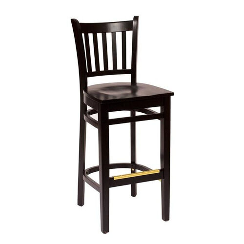 Our Delran Black Wood Slat Back Barstool - Wood Seat is on sale now.
