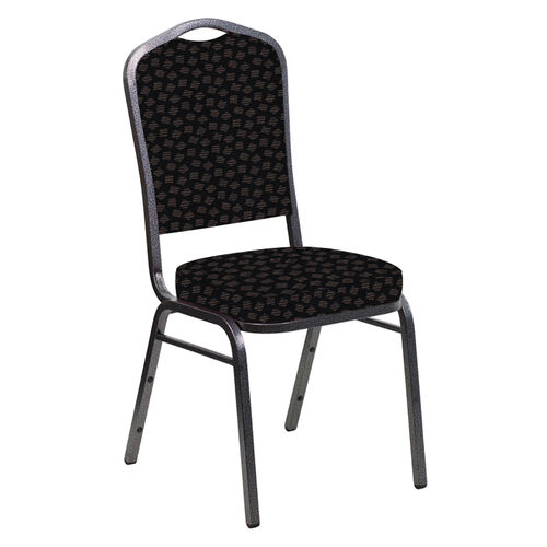 Our Embroidered Crown Back Banquet Chair in Scatter Ferrer Fabric - Silver Vein Frame is on sale now.