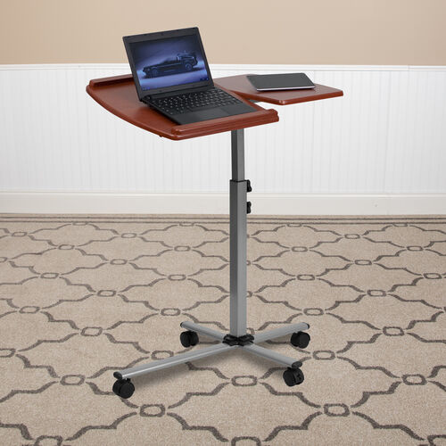 Our Angle and Height Adjustable Mobile Laptop Computer Table with Cherry Top is on sale now.