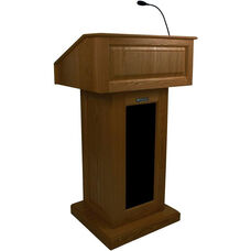 Victoria Wired 150 Watt Sound Lectern - Walnut Finish - 26.375