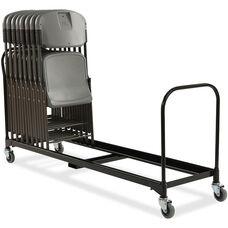 Rough 'N Ready 34 Chair Capacity Folding Chair Cart - Black
