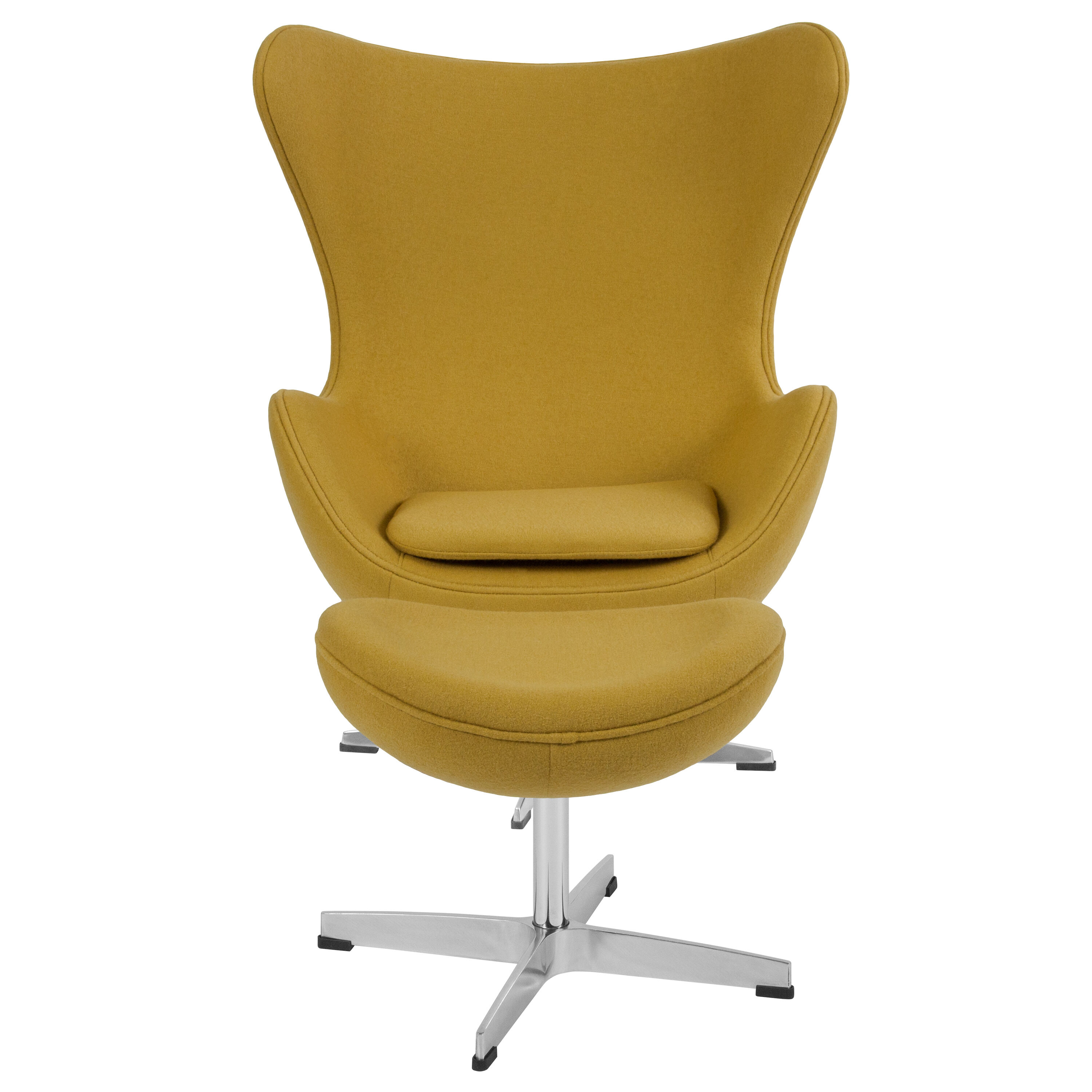 ... Our Citron Wool Fabric Egg Chair With Tilt Lock Mechanism And Ottoman  Is On Sale