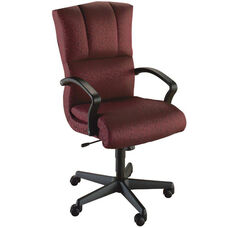 Quick Ship Trifecta Executive Swivel Chair with Black Urethane Arms