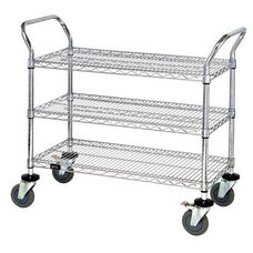 37.5''H x 24''W x 42''D 3 Shelf Wire Utility Cart