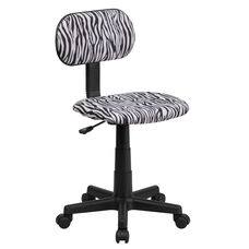 Black and White Zebra Print Swivel Task Office Chair