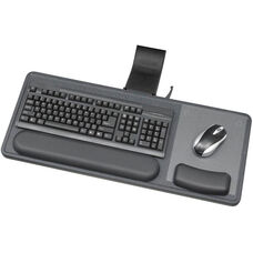 Ergo-Comfort® Sit and Stand Articulating Keyboard and Mouse Arm - Black Granite Fleck