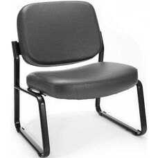 Big & Tall Guest and Reception Vinyl Chair - Charcoal