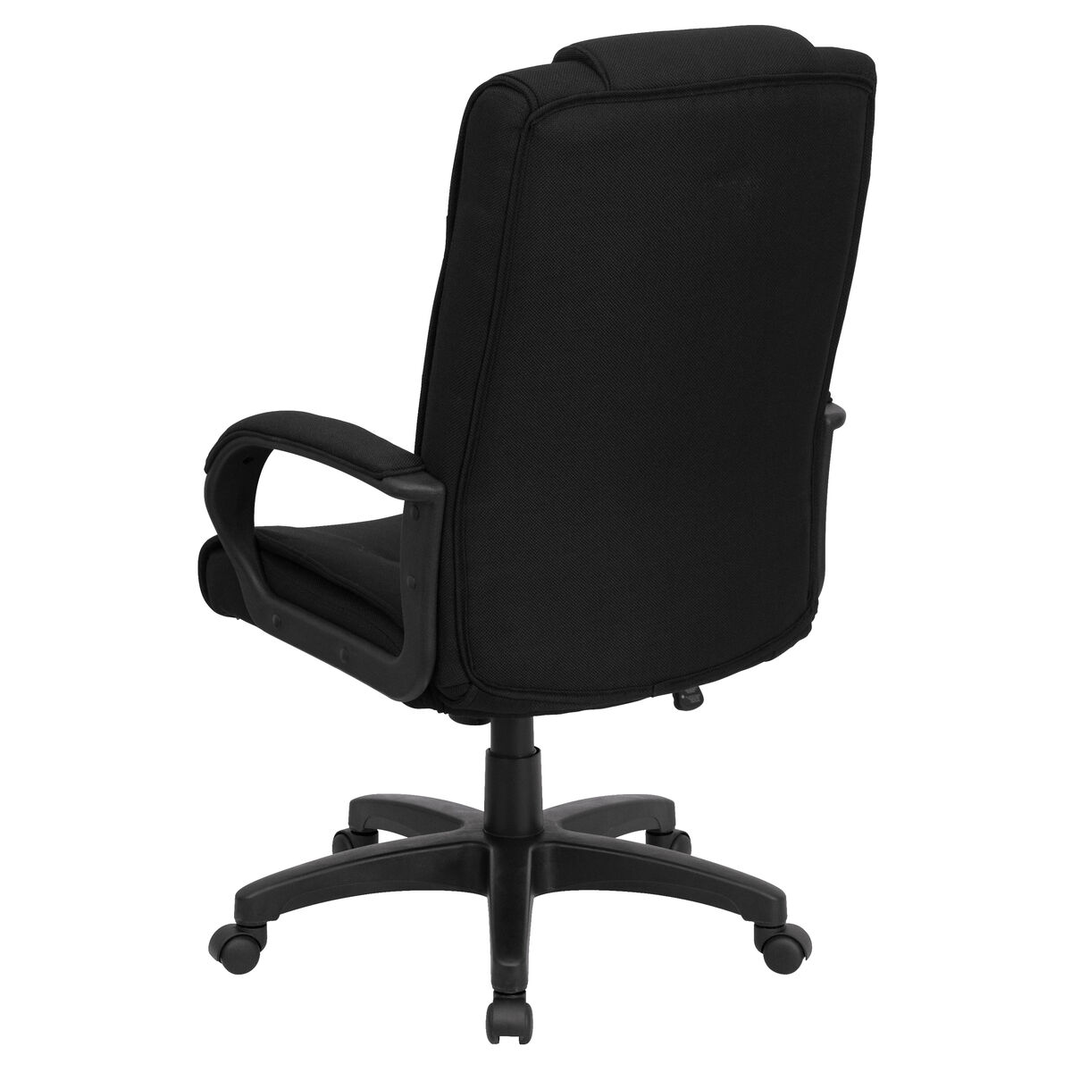 High Back Black Fabric Executive Swivel Office Chair With