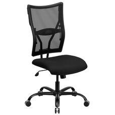 HERCULES Series Big & Tall 400 lb. Rated Black Mesh Executive Swivel Ergonomic Office Chair