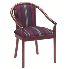 2035 Lounge Chair w/ Upholstered Back & Webbed Seat - Grade 1