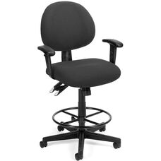 24 Hour Task Chair with Arms and Drafting Kit - Charcoal