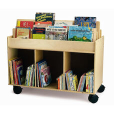 Two-Sided Library Cart with Heavy Duty Casters and Ample Storage