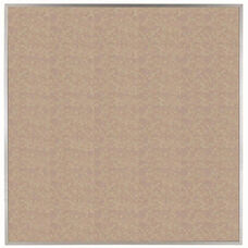 VIC Cork Bulletin Board with Satin Anodized Aluminum Frame - Buff - 48