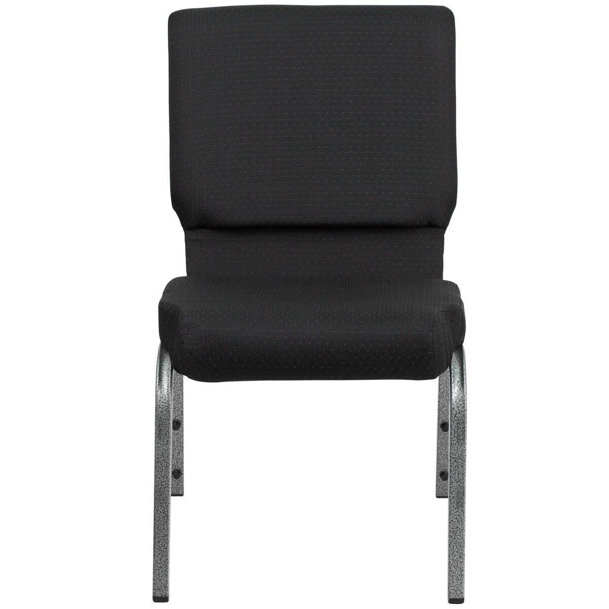 Black Fabric Church Chair Fd Ch02185 Sv Jp02 Gg