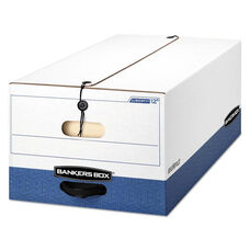 Bankers Box® LIBERTY Heavy-Duty Strength Storage Box - Legal - White/Blue - 4/Carton