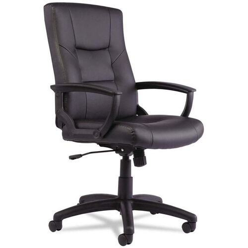 Our Alera® YR Series High-Back Leather Executive Swivel and Tilt Chair - Black is on sale now.